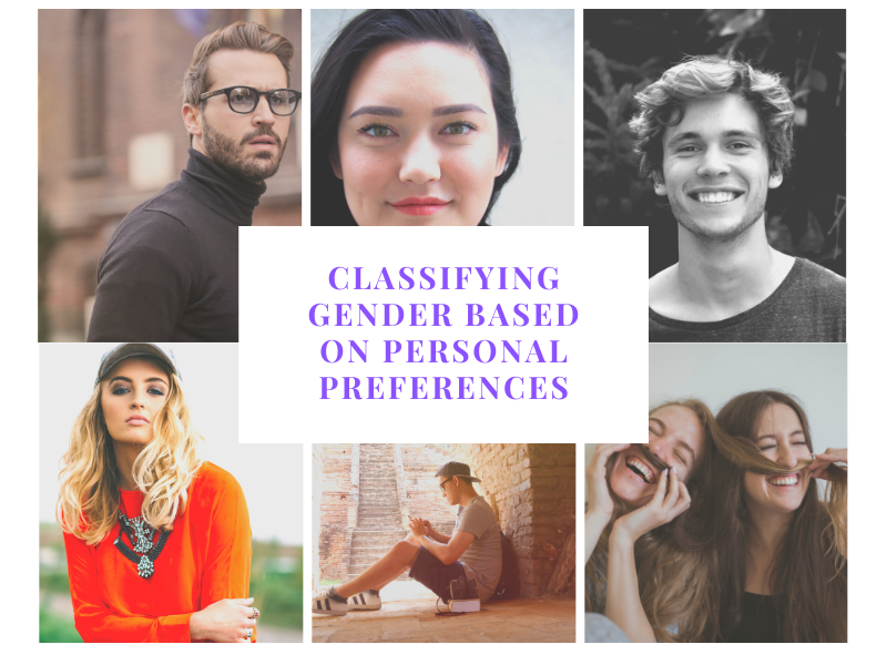 Classifying gender based on personal preferences Part 1